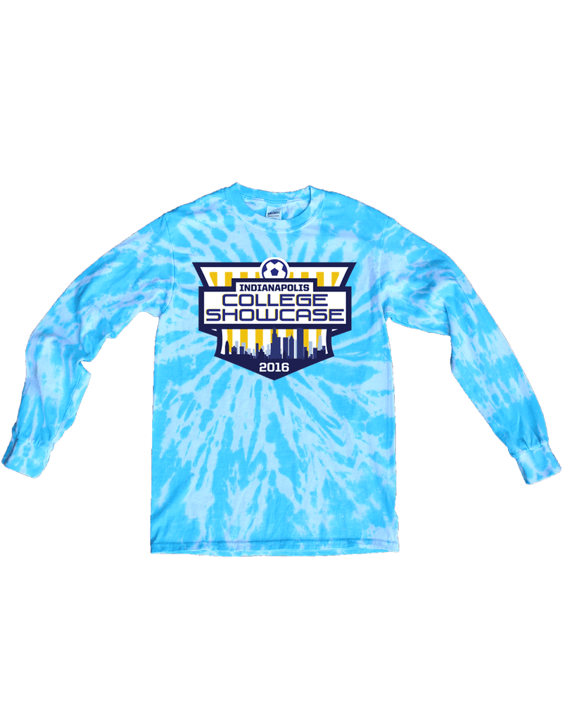 Blue Tie-Dye Long-Sleeve Shirt IND College Showcase