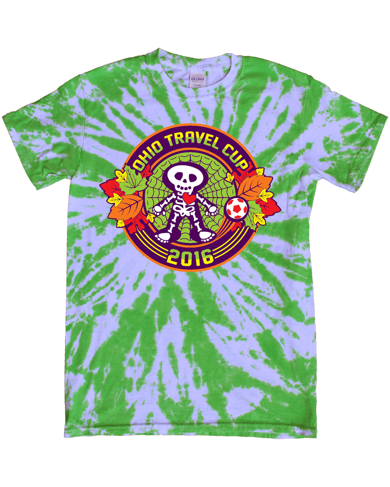 Green Tie-Dye T-Shirt Ohio Travel Cup