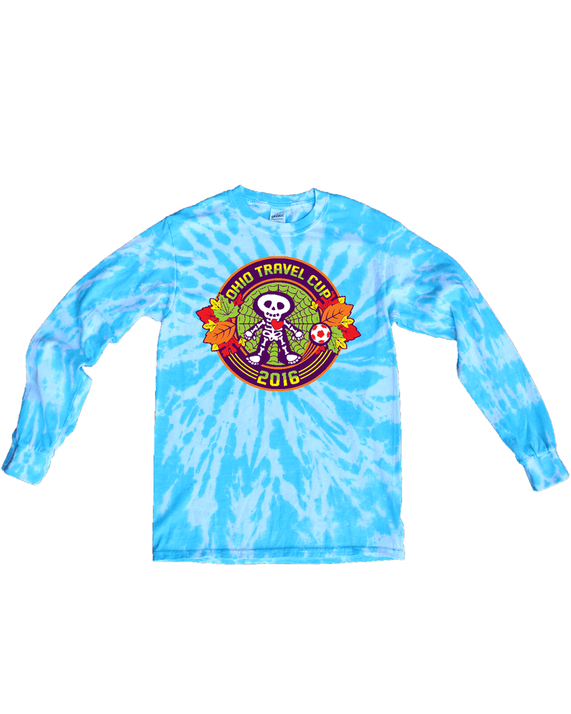 Blue Tie-Dye Long-Sleeve Shirt Ohio Travel Cup