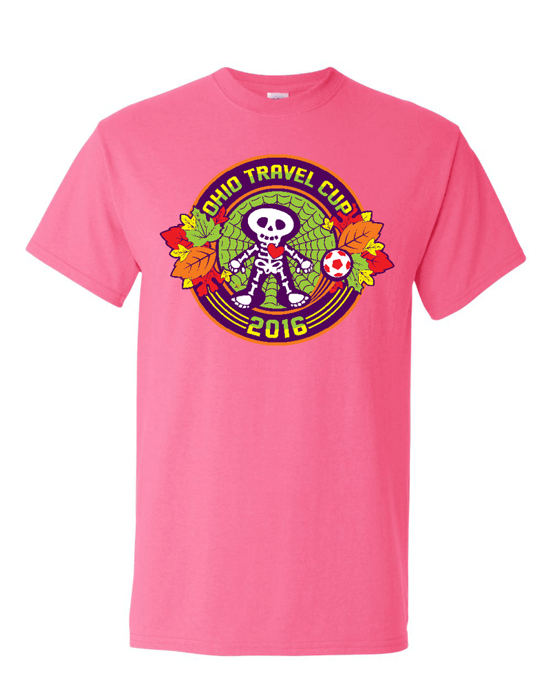 Neon Pink T-Shirt Ohio Travel Cup