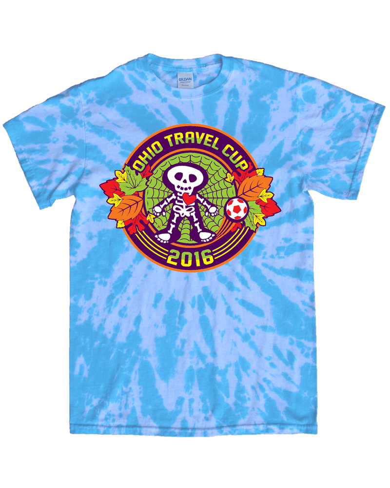Blue Tie-Dye T-Shirt Ohio Travel Cup