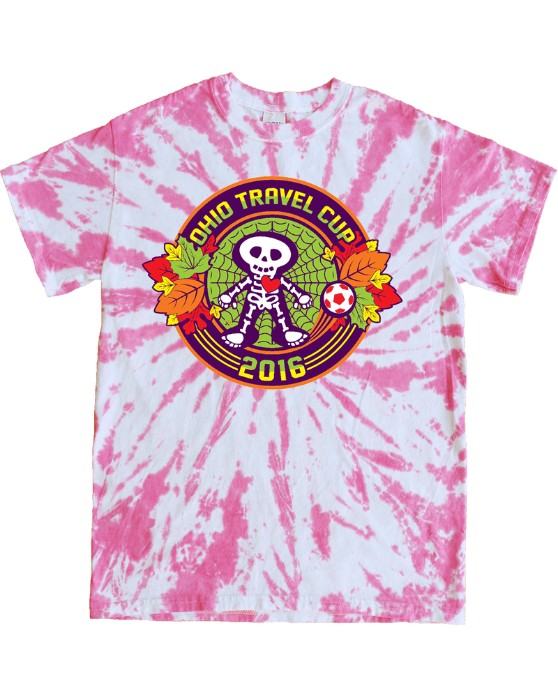 Pink Tie-Dye T-Shirt Ohio Travel Cup