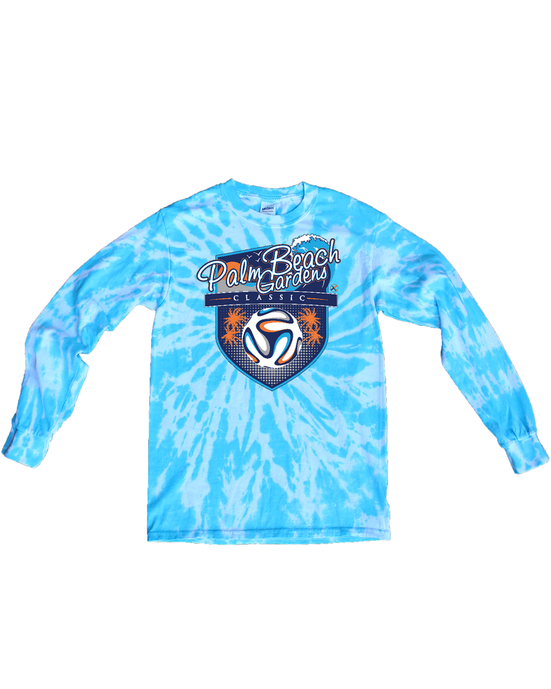 Blue Tie-Dye Long-Sleeve Shirt PBG Classic