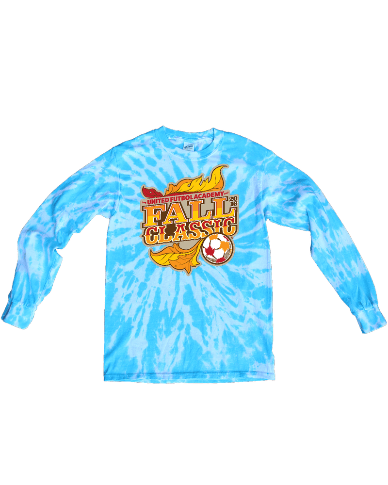 Blue Tie-Dye Long-Sleeve Shirt UFA Fall Classic