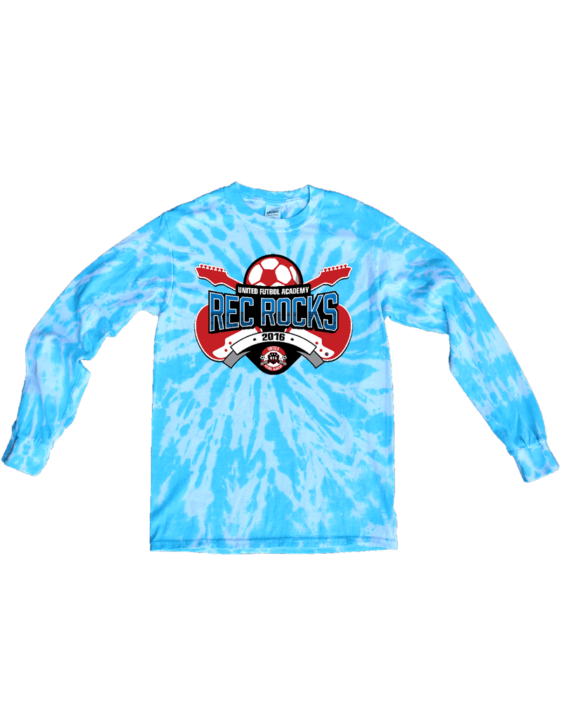 Blue Tie-Dye Long-Sleeve Shirt UFA Rec Rocks