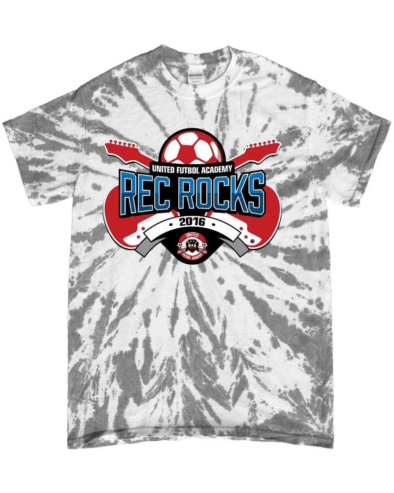 Grey Tie-Dye T-Shirt UFA Rec Rocks