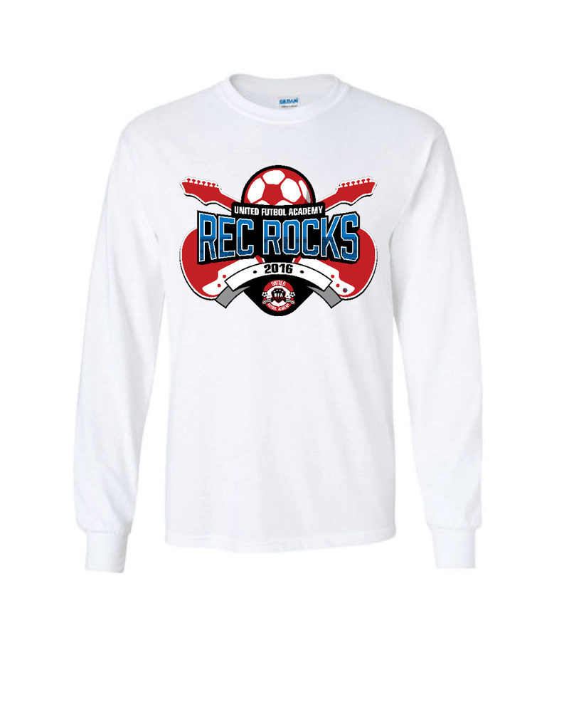 White Long-Sleeve Shirt UFA Rec Rocks