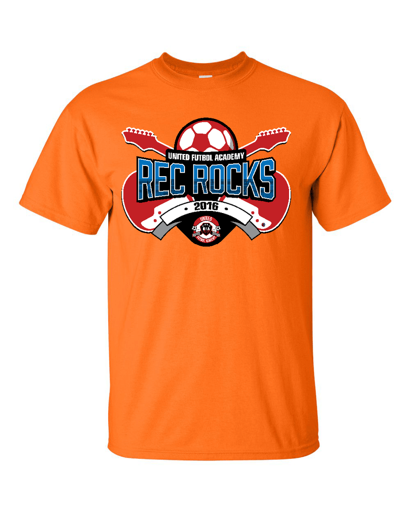 Neon Orange T-Shirt UFA Rec Rocks