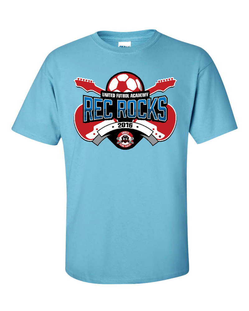 Sky Blue T-Shirt UFA Rec Rocks