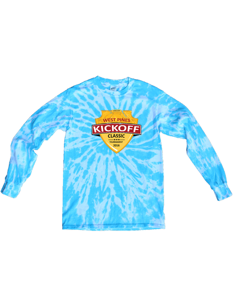 Blue Tie-Dye Long-Sleeve Shirt West Pines