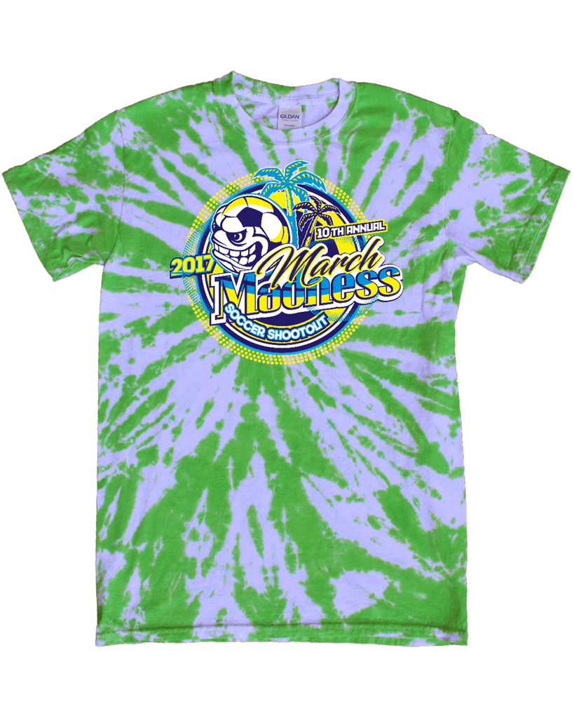 Green Tie-Dye T-Shirt March Madness