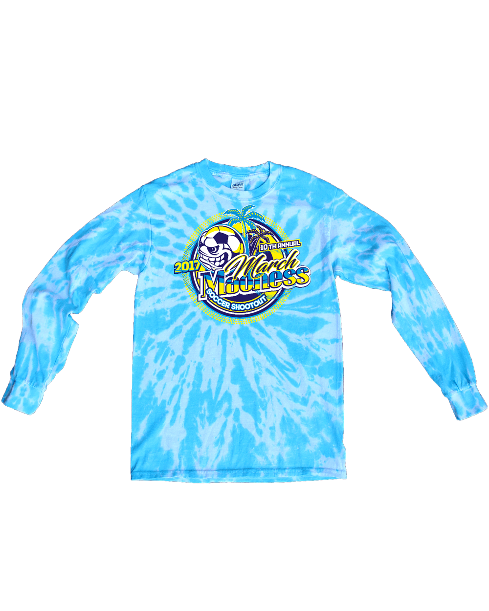 Blue Tie Dye Long Sleeve Shirt March Madness Simax Sports
