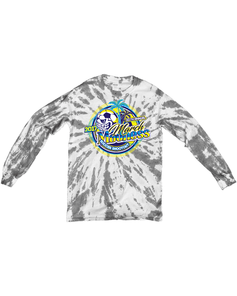 Grey Tie-Dye Long-Sleeve March Madness