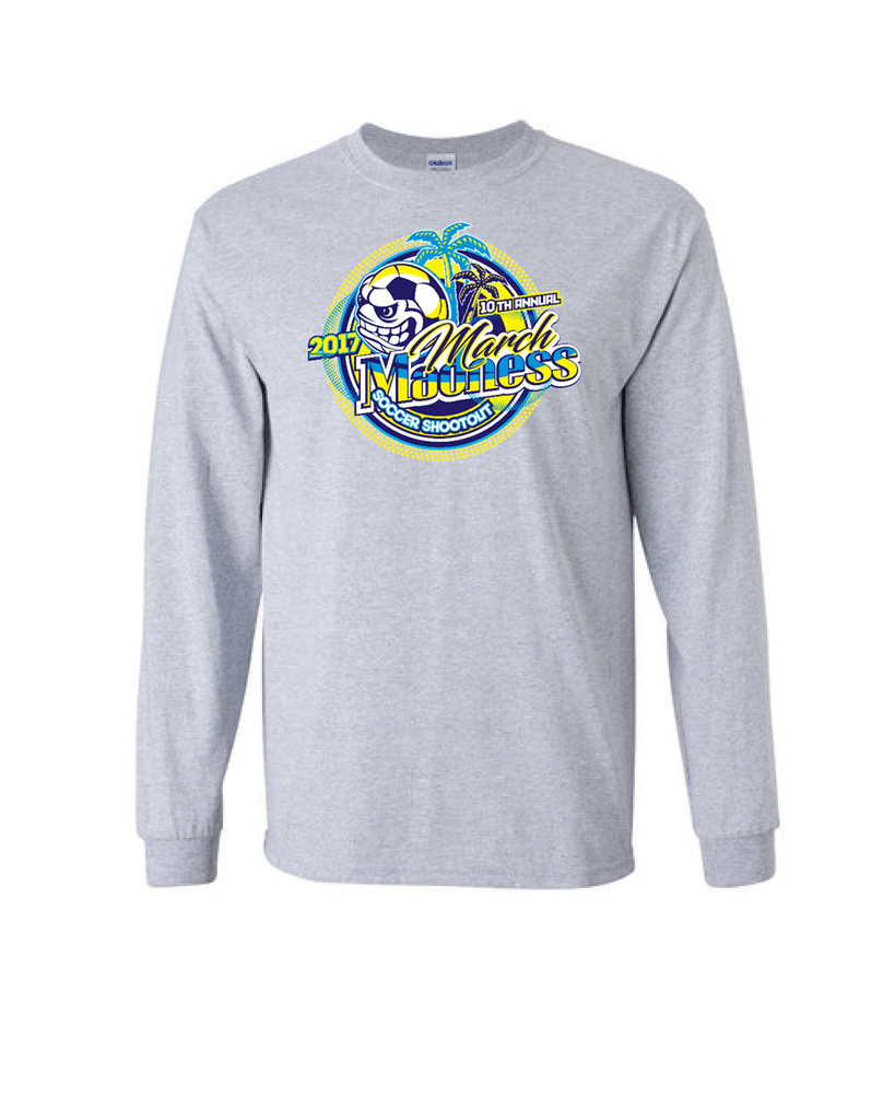 Grey Long-Sleeve Shirt March Madness