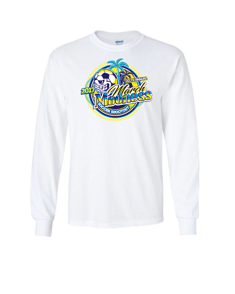 White Long-Sleeve Shirt March Madness