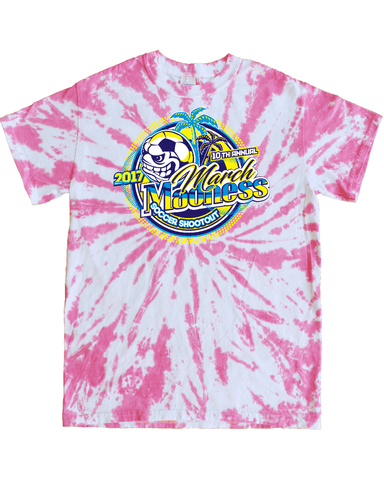 Pink Tie-Dye T-Shirt March Madness