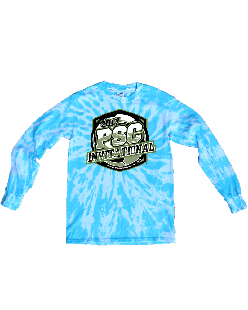 Blue Tie-Dye Long-Sleeve Shirt PSC Invitational