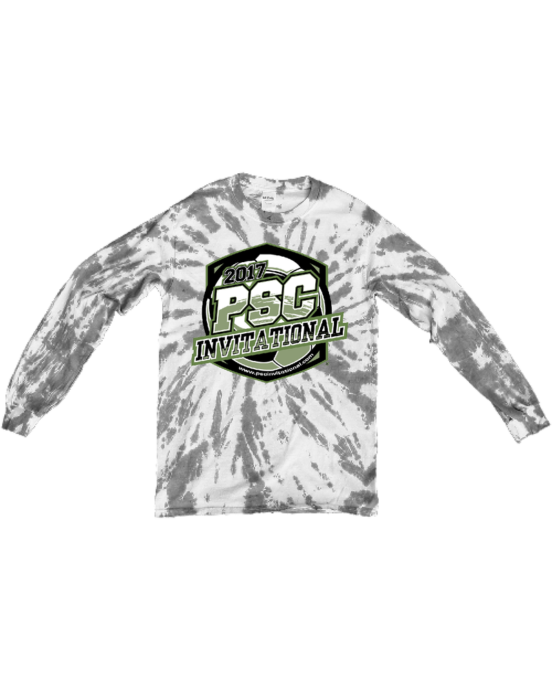 Grey Tie-Dye Long-Sleeve Shirt PSC Invitational