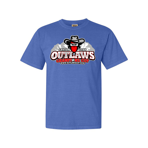 Comfort Colors Flo Blue T-Shirt Outlaws Champions Cup