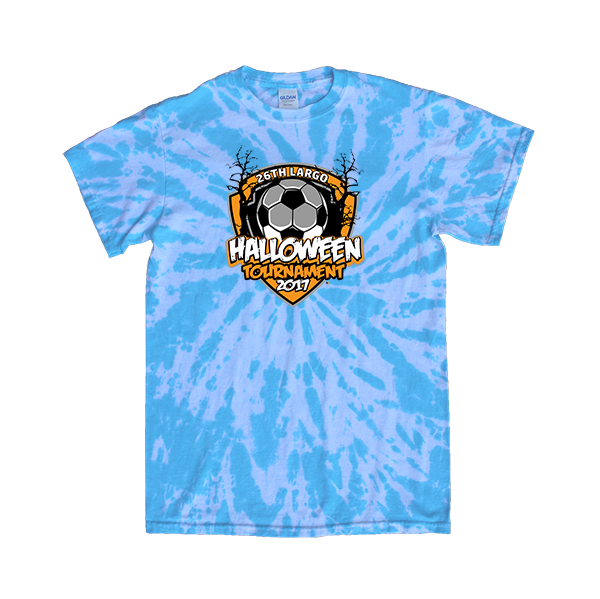 Blue Tie-Dye T-Shirt 26th Largo Halloween Tournament