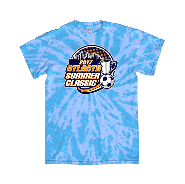 Blue Tie-Dye T-Shirt Atlanta Summer Classic