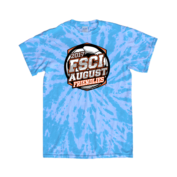 Blue Tie-Dye T-Shirt FSCI August Friendlies