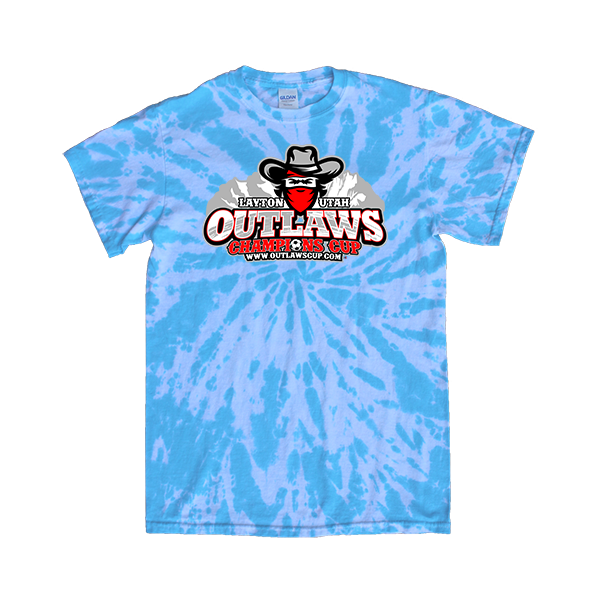 Blue Tie-Dye T-Shirt Outlaws Champions Cup