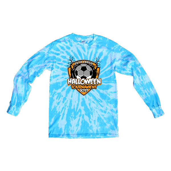 Blue Tie-Dye Long-Sleeve26th Largo Halloween Tournament
