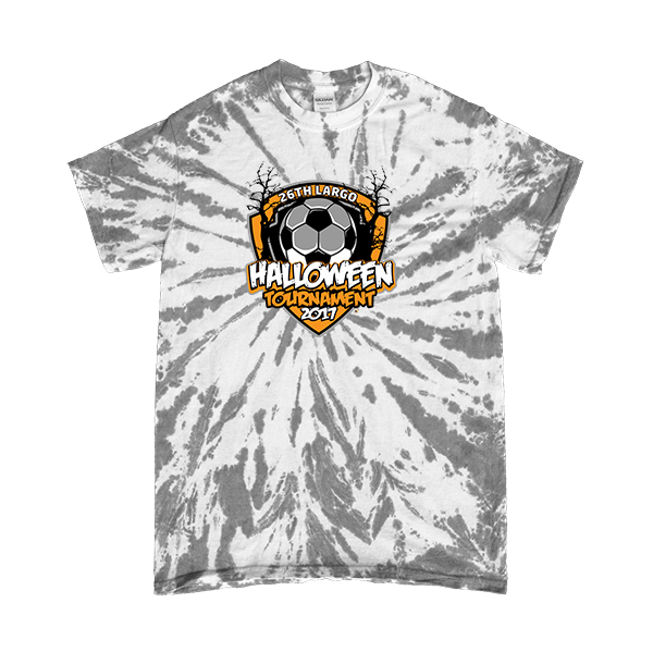 Gray Tie-Dye T-Shirt 26th Largo Halloween Tournament