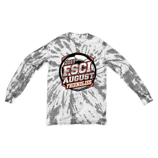 Gray Tie-Dye Long-Sleeve FSCI August Friendlies