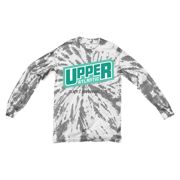 Gray Tie-Dye Long-Sleeve Upper Atlantic
