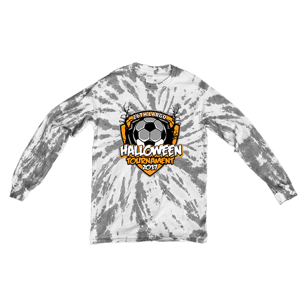Gray Tie-Dye Long-Sleeve 26th Largo Halloween Tournament