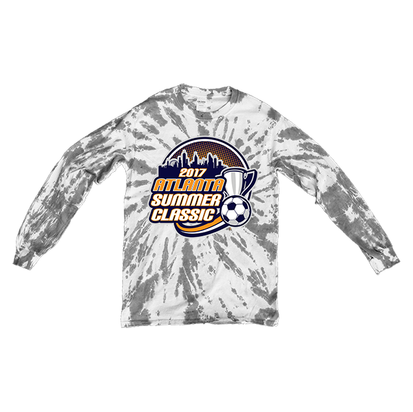 Gray Tie-Dye Long-Sleeve Atlanta Summer Classic