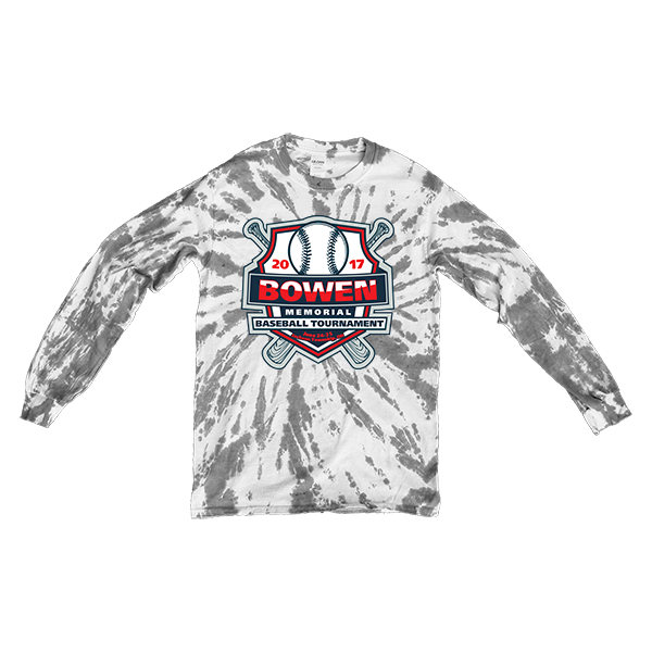 Grey Tie-Dye Long-Sleeve Bowen Memorial Tournament