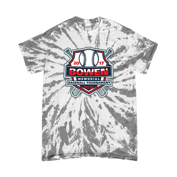 Grey Tie-Dye T-Shirt Bowen Memorial Tournament