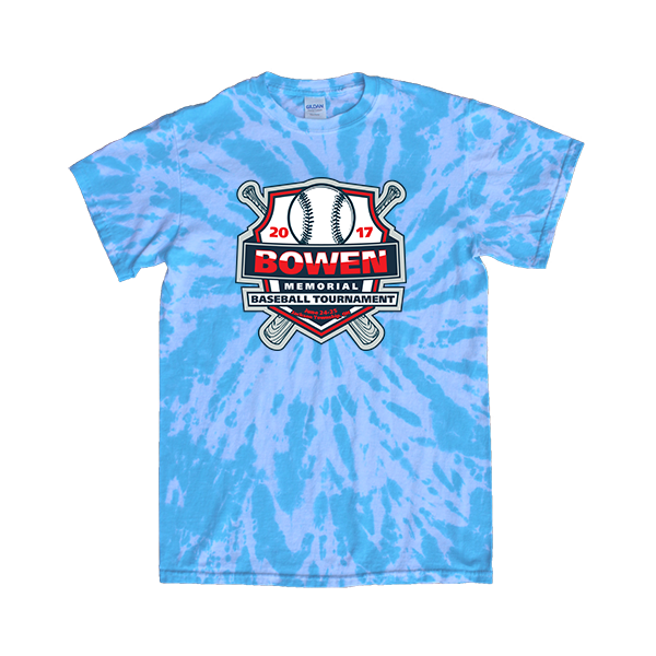 Blue Tie-Dye T-Shirt Bowen Memorial Tournament