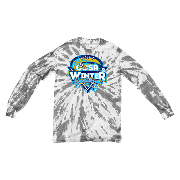 Grey Tie-Dye Long-Sleeve CCSA Winter Invitational