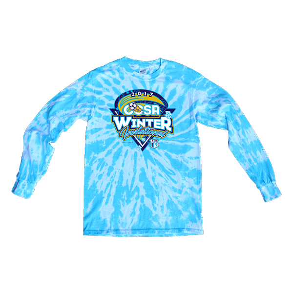 Blue Tie-Dye Long-Sleeve CCSA Winter Invitational