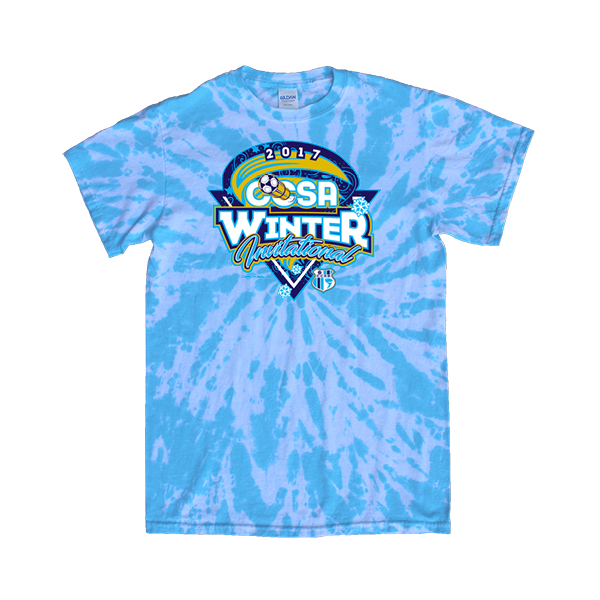 Blue Tie-Dye T-Shirt CCSA Winter Invitational