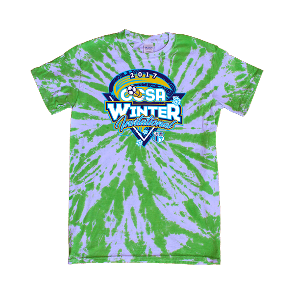 Green Tie-Dye T-Shirt CCSA Winter Invitational