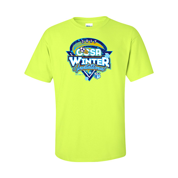 Neon Green T-Shirt CCSA Winter Invitational