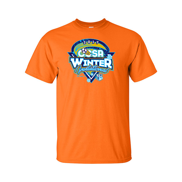 Neon Orange T-Shirt CCSA Winter Invitational