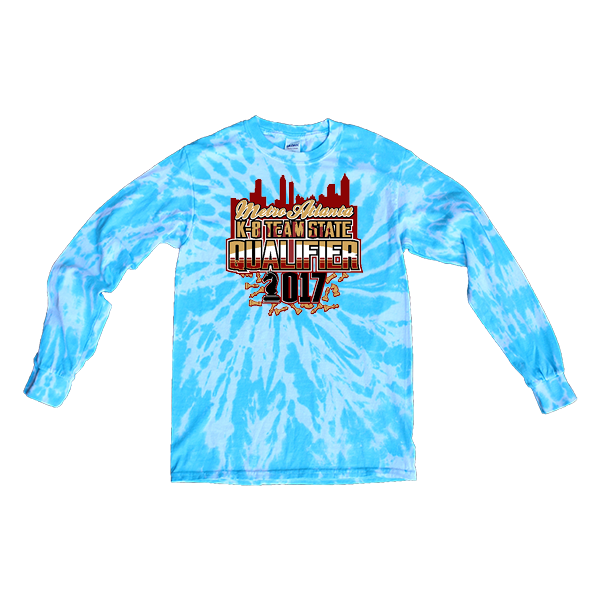 Blue Tie-Dye Long-Sleeve Chess Metro Atlanta