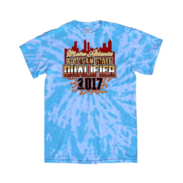 Blue Tie-Dye T-Shirt Chess Metro Atlanta