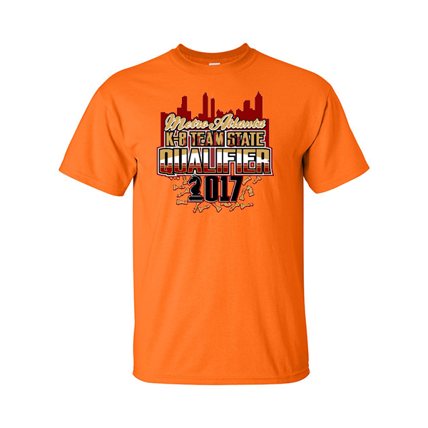 Neon Orange T-Shirt Chess Metro Atlanta