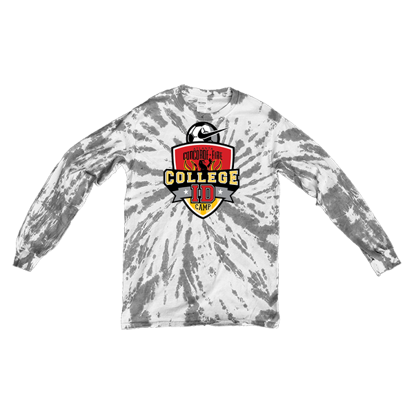 Grey Tie-Dye Long-Sleeve College ID Camp