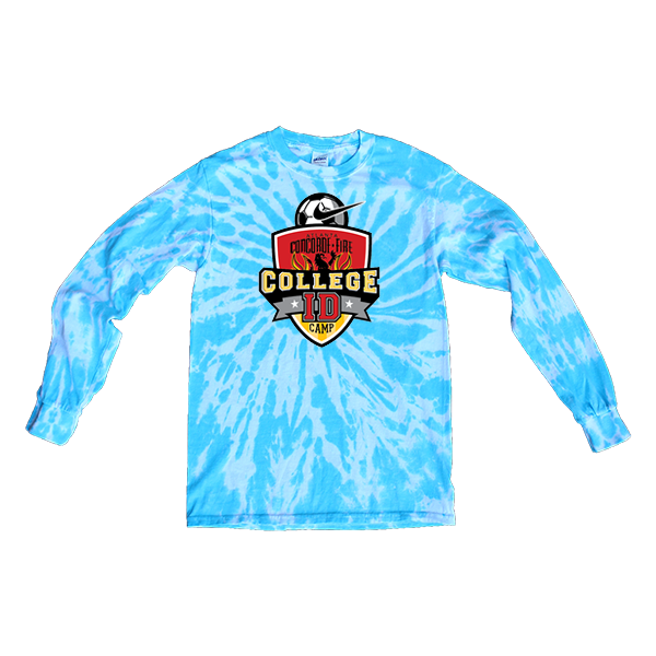 Blue Tie-Dye Long-Sleeve College ID Camp