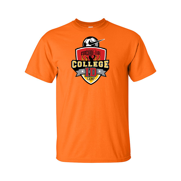 Neon Orange T-Shirt College ID Camp