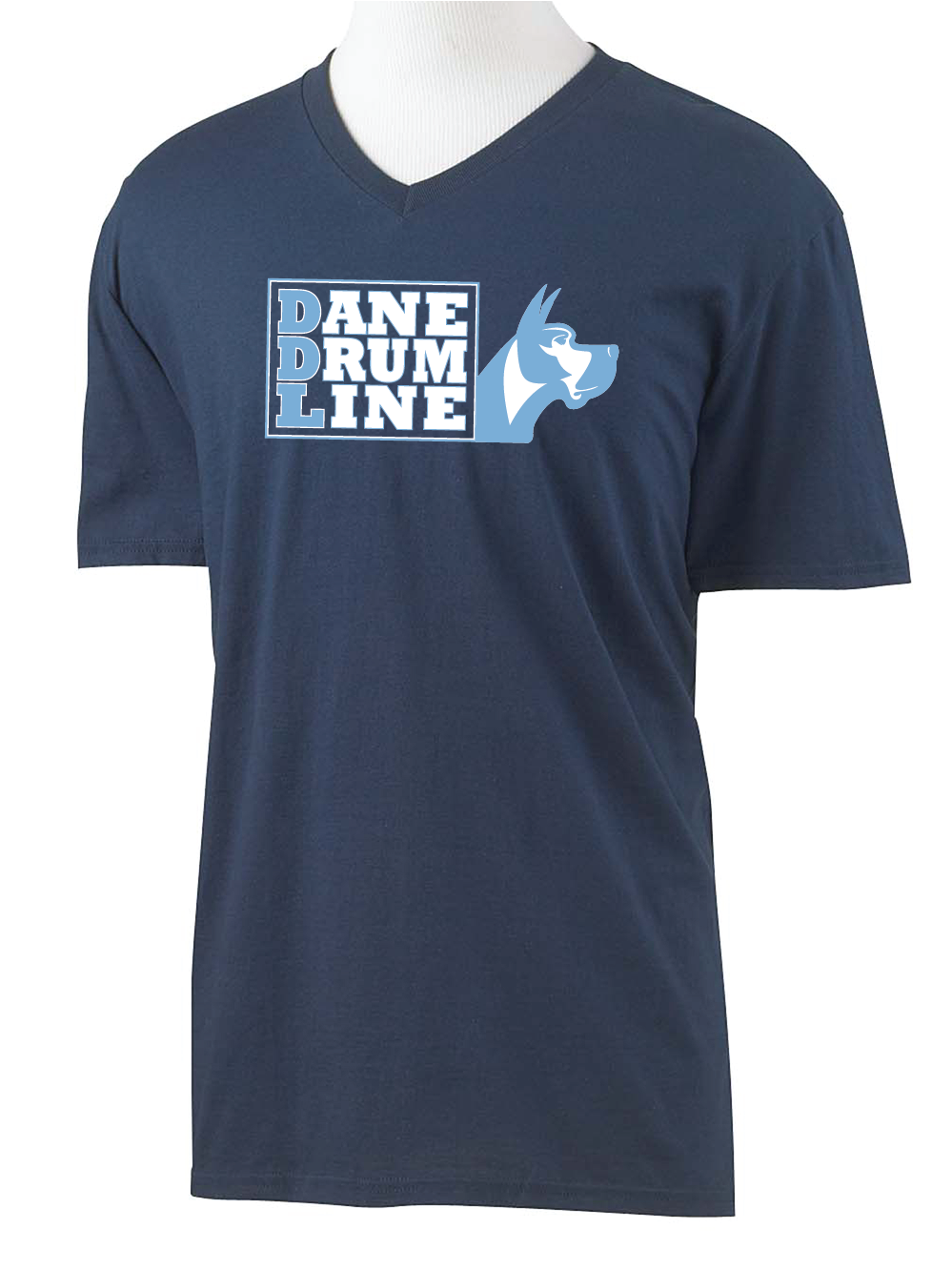 Short Sleeve V-Neck Dane Drum Line
