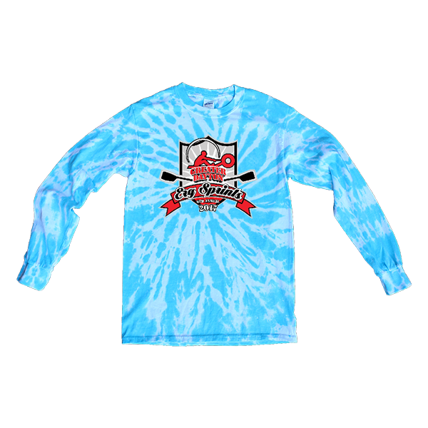 Blue Tie-Dye Long-Sleeve ERG Sprints